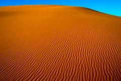 Песок пустыни Сахары Стоковое фото RF