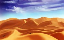 Песок пустыни, цифровой чертеж стоковые изображения