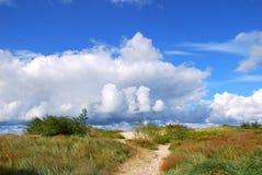 песок путя дюн Стоковая Фотография
