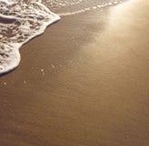 Песок пляжа влажный Стоковая Фотография RF