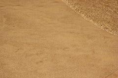 Песок пляжа и морская вода Стоковое Изображение