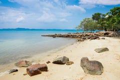 песок пляжа тропический Стоковые Изображения