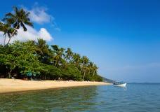 песок пляжа тропический Стоковое Изображение