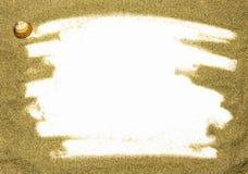 песок рамки Стоковая Фотография
