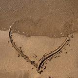 песок сердца Стоковые Изображения