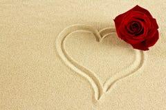 песок сердца Стоковое фото RF