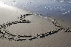 песок сердца Стоковое Изображение