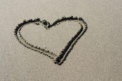 песок сердца Стоковое Изображение RF