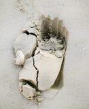 песок следа ноги Стоковые Фотографии RF