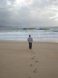 песок следов ноги Стоковое Изображение