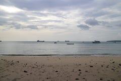 Песок Солнце моря Стоковые Изображения RF