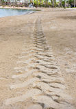 Песок следа трактора Стоковое Изображение RF