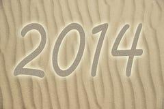 Песок с 2014 иллюстрация штока