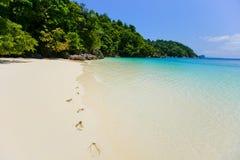 Песок южного моря в Таиланде Стоковые Изображения RF