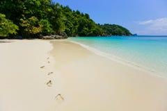 Песок южного моря в Таиланде Стоковые Фотографии RF