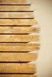 Песок дюн на деревянном настиле Стоковая Фотография RF