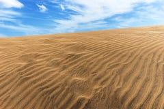 Песок дюн пустыни в Maspalomas Стоковые Изображения RF