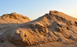 песок 01 кучи Стоковые Фотографии RF
