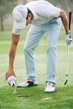 Песок divot гольфа стоковая фотография rf