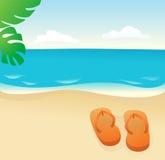 песок flops flip Стоковое Фото