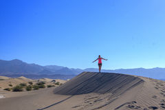 песок mesquite дюн плоский Стоковое Фото