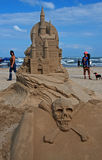 песок padre острова дня замока южный Стоковые Изображения RF