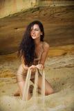 песок strew Стоковые Фото