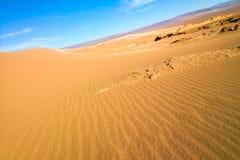 песок valle luna la de дюны стоковая фотография