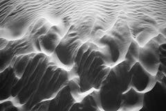 Песок windblown, b/w стоковое изображение