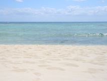 песочное пляжа совершенное Стоковые Фото
