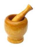 пестик ступки деревянный Стоковое Изображение RF