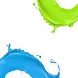 Пестрая краска брызгает иллюстрация вектора