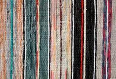 Пестрая текстура текстильных тканей половика Стоковое Изображение RF