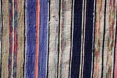 Пестрая текстура текстильных тканей половика Стоковое Изображение