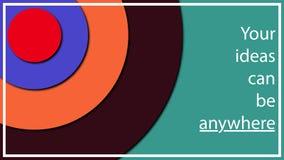 Пестротканая абстрактная иллюстрация в форме различных кругов диаметра на различных высотах от одина другого Влияние тома иллюстрация вектора