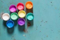 Пестротканая акриловая краска жемчуга Стоковое Фото