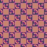 Пестротканая геометрическая безшовная картина Стоковая Фотография RF