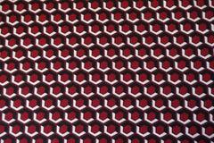 Пестротканая геометрическая печать на ткани Стоковые Фотографии RF