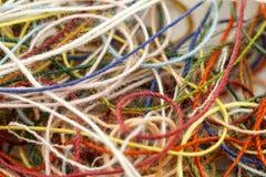 Пестротканая запутанная веревочка потока красочного needlecraft silk макинтош Стоковые Фотографии RF