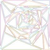 Пестротканая линия предпосылка треугольников абстрактная Стоковое фото RF