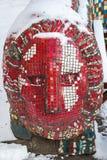Пестротканая мозаика в одном из дворов Санкт-Петербурга Стоковая Фотография RF