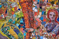 Пестротканая мозаика в одном из дворов Санкт-Петербурга Стоковое Изображение