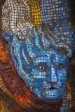 Пестротканая мозаика в одном из дворов Санкт-Петербурга Стоковые Фото