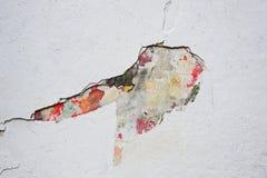 Пестротканая покрашенная старая бетонная стена Стоковое Фото
