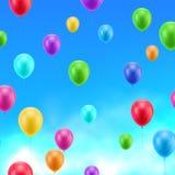 Пестротканая предпосылка сини рамки шариков Стоковое Фото