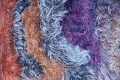 Пестротканая пряжа шерстей Текстура, предпосылка Стоковые Изображения