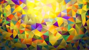 Пестротканая розовая и голубая полигональная предпосылка конспекта калейдоскопа, крышка, состоя из структуры треугольников Тексту Стоковое Изображение