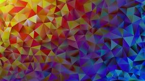 Пестротканая розовая и голубая полигональная предпосылка конспекта калейдоскопа, крышка, состоя из структуры треугольников Тексту Стоковые Изображения RF