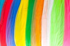 Пестротканая ткань используемая для украшения в виске Таиланда Стоковые Изображения