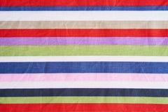 Пестротканая ткань нашивок Стоковая Фотография RF